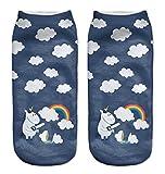 Chinget Damen Mädchen Niedlich Einhorn Socken Sport Strümpfe (C)
