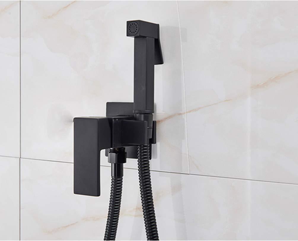 Grifos de bidé Negro/Cromo/Cepillado Grifo de la ducha del baño Bidé Pulverizador del inodoro Lavador del inodoro Mezclador musulmán Ducha Ducha Higienica, Negro