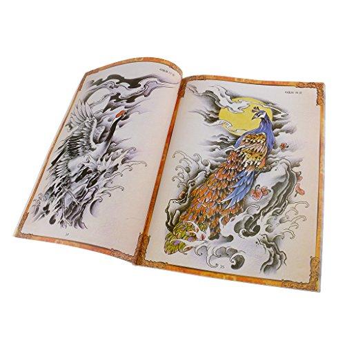 MagiDeal 80 Seiten Tattoo Design Buch Körperkunst Tattoo Schablone Manuskript Buch Handbuch