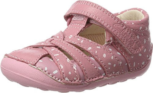 Clarks Baby Mädchen Little Mae Krabbel- & Hausschuhe, Vintage Pink Lea, 19 EU