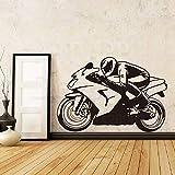 zzlfn3lv Art décor de Maison Pas Cher Vinyle de Course Moto Stickers Muraux coloré...
