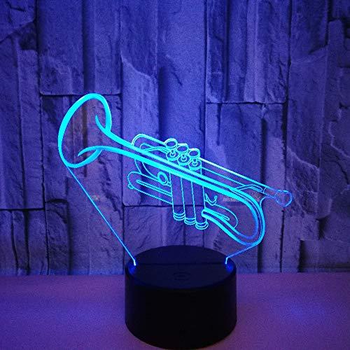 3D LED Nachtlicht Trompete Optische 3D Illusions Lampen Tischlampe Nachtlichter für Kinderzimmer Wohnzimmer