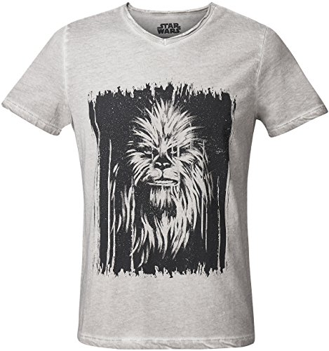 GOZOO Star Wars T-Shirt Herren Vintage Wookiee Oil Dye 100% Baumwolle Grau ()