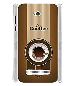 Coffee Design Soft Silicon Rubberized Back Case Cover for Lava Flair Z1