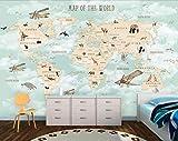 Fotomurales Papel Pintado 3D Fotográfico Mapa Del Mundo De Ensueño Simple Salón Dormitorio Despacho Pasillo Decoración Murales Decoración De Paredes
