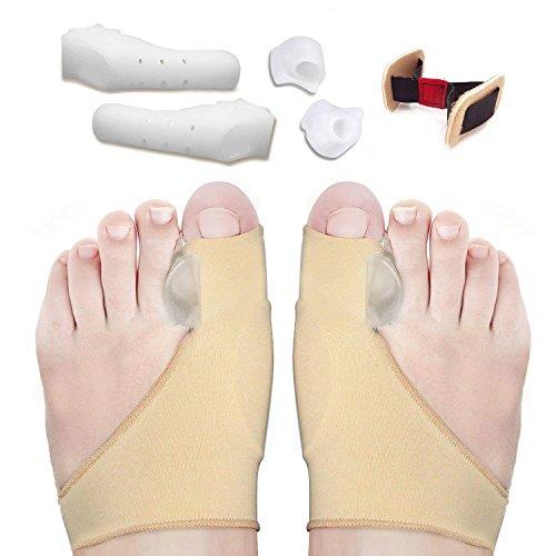 Alluce valgo correttore,raddrizza dita dei piedi,kit di guaina cuscinetto di sollievo alluce,cura del dolore del piede,separatori a punta del gel