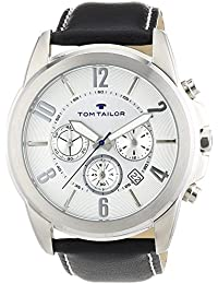 TOM TAILOR Herren-Armbanduhr XL Analog Quarz Leder 5413502