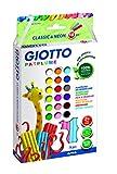Giotto 513100 Astuccio Patplume, Classici e Fluo, 20 x 18 g