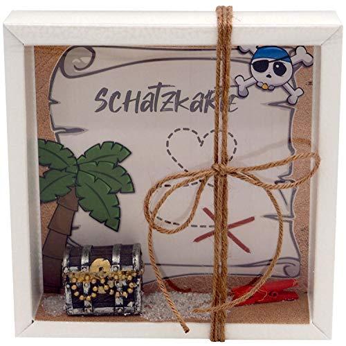 ZauberDeko Geldgeschenk Verpackung Geburtstag Schatztruhe Schatzkarte Pirat Geschenk Kindergeburtstag