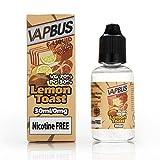 30ml Vape Liquid Box, High VG E Liquid - E Cigarette Liquid Packs for All Ecigs and E Shishas, E CIG Liquid, No Nicotine (Lemon Toast)