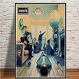 yhnjikl Poster e Stampe Oasis Rock Musica Band Star Retro Album Wall Art Canvas Pittura Immagini Stampa for Living Room Home Decor 40X60Cm Senza Cornice