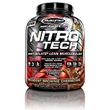Muscletech Performance Series Nitro-Tech Whey Isolate Plus Lean MuscleBuilder Decadent Protein Powder, 1.8 kg, Brownie Cheesecake