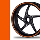 NEW! Felgenrandaufkleber Classic Style Auto Motorrad Felgenaufkleber (10mm, orange)