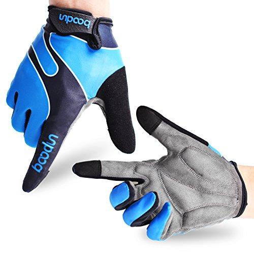 Fahrradhandschuhe Radsporthandschuhe rutschfeste und stoßdämpfende Mountainbike Handschuhe mit Signalfarbe geeiget für Radsport MTB Road...