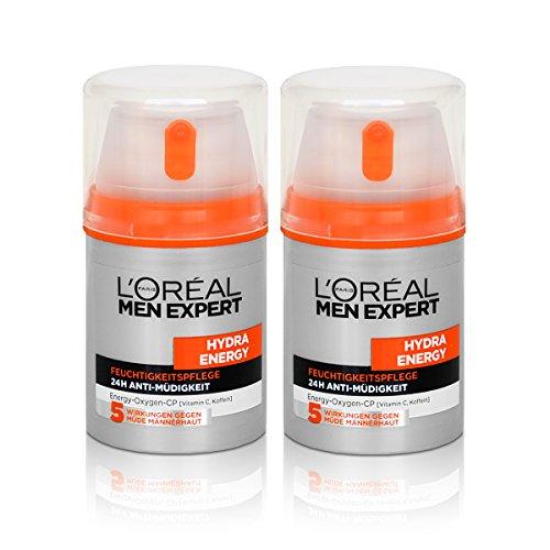 2x Loréal Men Expert Hydra Energy Feuchtigkeitspflege Anti-Müdigkeit 50ml