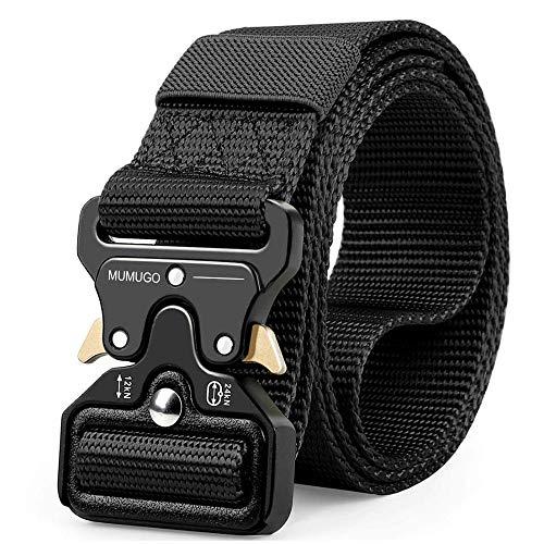 Cintura Militare Tattica per Uomo Heavy Duty Cintura Militare con Cintura Cintura Nylon Resistente per Caccia Esecuzione di Esercizi Militari