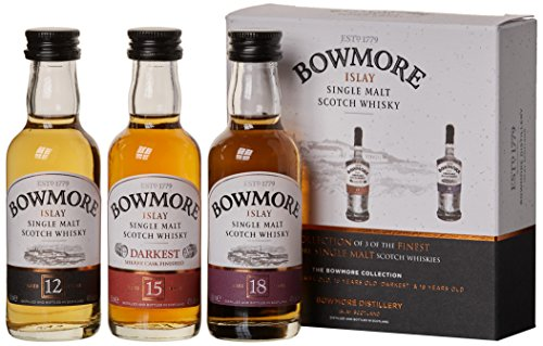 Bowmore Whisky Miniaturen-Set 12, 15, 18 Jahre (3 x 0.05 l)