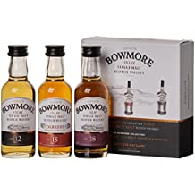 Bowmore 12, 15, 18 Jahre Whisky Miniaturen-Set (3 x 0.05 l)