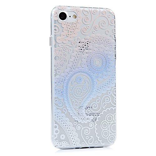 """YOKIRIN Coque pour iPhone 7 4.7"""", Housse PC Plastique Couverture Complète Doux Étui Transparent Ultra Mince Coque Motif de Peinture Cover Protection de Téléphone Case - Fleur Coloré Fleur Coloré"""