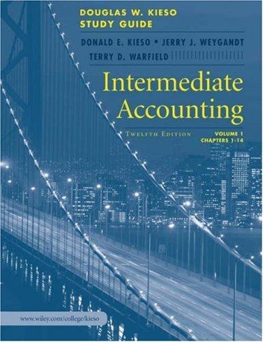Intermediate Accounting: Study Guide by Donald E. Kieso (2006-03-24)