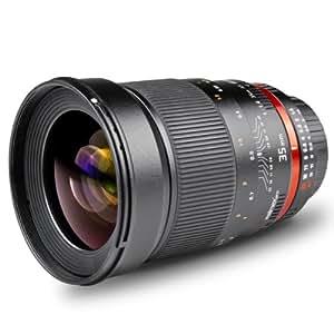 Walimex Pro 35mm 1:1,4 DSLR-Objektiv AE für Nikon F Objektivbajonett schwarz (manueller Fokus, für Vollformat Sensor gerechnet, IF, Filterdurchmesser 77mm)