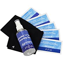 Playstation 4 Officially Licensed Controller 'N' System Cleaning Kit also for PS4, PS3, Xbox One, Xbox 360, Nintendo Wii U
