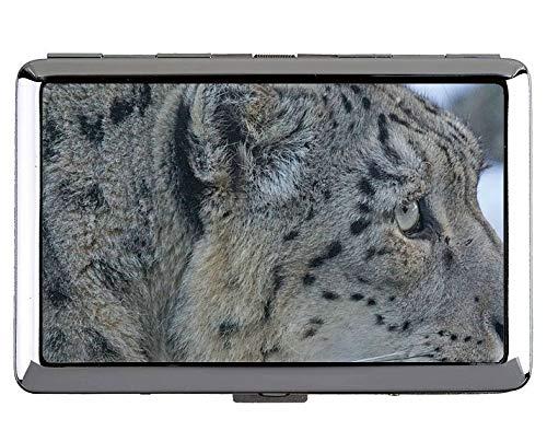 Zigarettenetui / -schachtel - King Size Zigaretten, Snow Leopard Leopard Hard Box und Halter (King - Snow Leopard Kostüm Zubehör