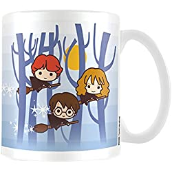 Harry Potter–Harry Ron Hermione Flying taza de cerámica, multicolor