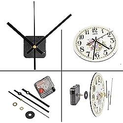 QLOUNI Mouvement MECANISME D' Horloge Silencieux 3 Aiguilles Balayage Pendule Électrique