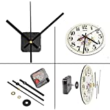 QLOUNI Ultra Silent Quartz Clock Movement, Clock Mechanisms with Hands Battery Powered, Wall Clock Mechanism Motor Replacement DIY Repair Parts, 2/5 Inch Maximum Dial Thick