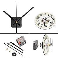 QLOUNI Ultra Silent Quartz Clock Movement, Clock Mechanisms with Hands Battery Powered, Wall Clock Mechanism Motor Replacement DIY Repair Parts, 2/5 Inch Maximum Dial Thick