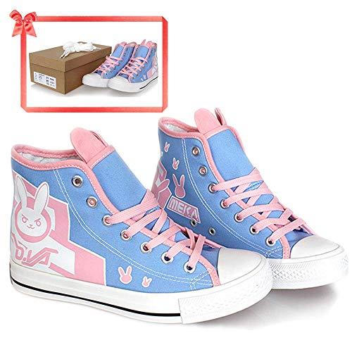 ltuch Overwatch D.Va Schuhe Schnürschuh hohe Farbe Pink Niedliches Accessoire Kostüm aus der Daily Collection Geschenk für Erwachsene Frauen (US5.5-7), Pink - Rose - Größe: 36 EU ()