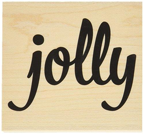 Hero Arts Holz montiert Stempel 3,5x 3.25-inch-Bold Jolly -