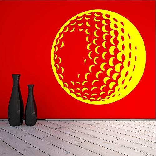 Ansichten Golf Ball Vinyl Kunst Wandbild Home Wohnzimmer DekorationWandaufkleberSport Thema Serie Wandbild57 * 57 cm (Golf-themen-dekorationen)
