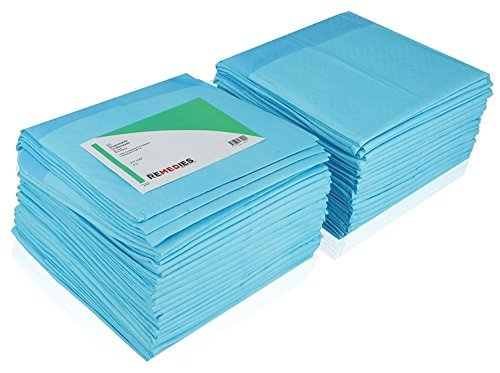 Traverse REMEDIES Protezione per il letto Super Assorbente Usa e getta, larghezza 76 X 91 cm, 85 grammi, 3g SAP 100 pezzi