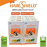 #9: Hairshield Anti Lice Cream Wash 30 Ml X Pack Of 6 = 180 Ml Free Head Lice Comb With Every Pack