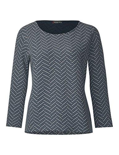 Street One Damen Sweatshirt Mehrfarbig (Deep Blue 21238)