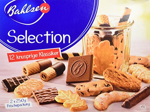 Preisvergleich Produktbild Selection 5 x 500 g Gebäckmischung,  vielfältige Mischung aus Waffeln und Keksen,  mit und ohne Schokolade,  knuspriges Kaffeegebäck,  köstliche Klassiker