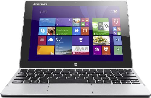 Lenovo Miix 2-10 25,7 cm (10,1 Zoll FHD-IPS) Convertible Tablet-PC (Intel Atom Z3745, 1,86 GHz, 2GB RAM, 128GB eMMC, Intel HD Graphics, Touch, Win8.1) silber 1.86 Ghz Notebook