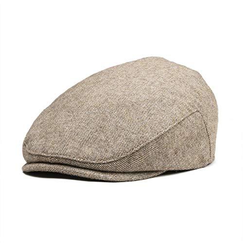 KDFLGE Hut Kinder Tweed Flat Top Hat Fischgrätenmuster Jungen Mädchen Zeitung Jungen Hut Baby Kind Teen Barett, A (Zeitung Junge Hats)
