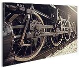 islandburner Bild Bilder auf Leinwand Dampflok alte Lokomotive 1K XXL Poster Leinwandbild Wandbild Dekoartikel Wohnzimmer Marke