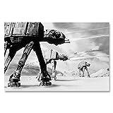 Box Prints at at Star Wars Walker Filmplakat Drucken gerahmte Kunst Bild Schwarz Weiß Klein groß