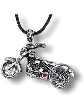 Anhänger Motorrad mit Zirkonia aus Edelstahl etNox mit Halsband