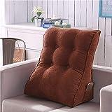 Tatami Triangle Large Cushion Bed Backrest Comodino Cuscino Lombare Soft Pack Cuscino Singolo Lombare Multifunzione,G,55 * 60CM