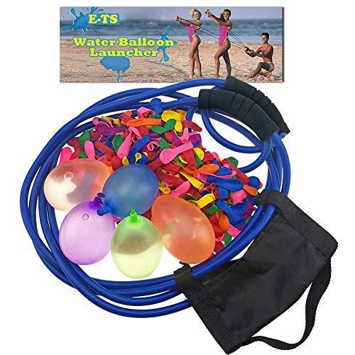 Erfula Wasserbomben Mit 100 Ballons,Wasserballon Schleuder Zwille Steinschleuder Lange Reichweite,Werfer Wasserkanonen Großer Schleuder Gruppenspiele,Wasserspiele Sommerfest Spielzeug