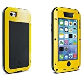 Generic Love Mei golpes protección Rugged metal impermeable para iPhone 5 C, color amarillo