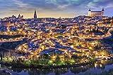 Poster Gießerei Toledo Spanien Skyline Bei Sonnenuntergang