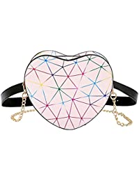 Creative Women Ladies Heart Shape Waist Pack Party PU Shoulder Chain Bags By Yourig