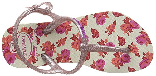 Havaianas Freedom Print, Sandales Bout Ouvert Fille Multicolore (Beige 0121)