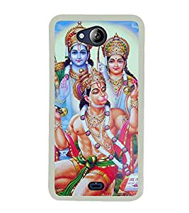 Lord Hanuman 2D Hard Polycarbonate Designer Back Case Cover for Micromax Canvas Play Q355